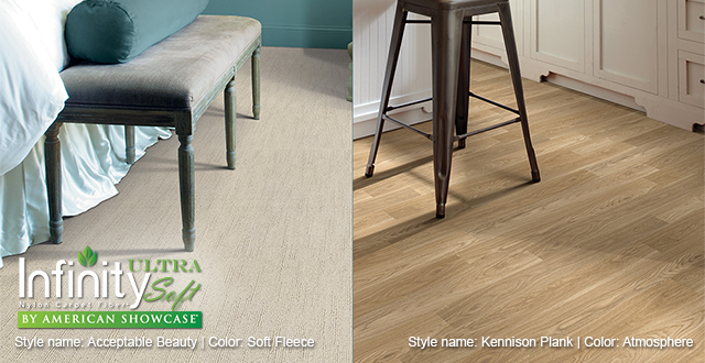 Infinity Ultra Soft Nylon Carpet Fiber by American Showcase. Style name: Acceptable Beauty | Color: Soft Fleece.