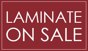 In-stock laminate on sale starting at $1.49 sq.ft. this month at Bennington House of Tile & Carpet!